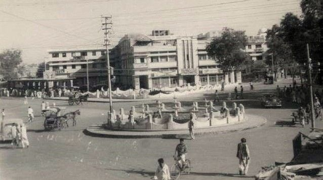 Chowk-Fawara-Rawalpindi-1940s.