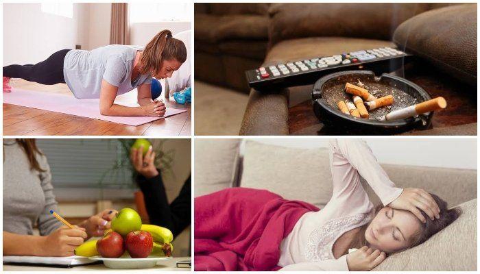 eating bad habits.