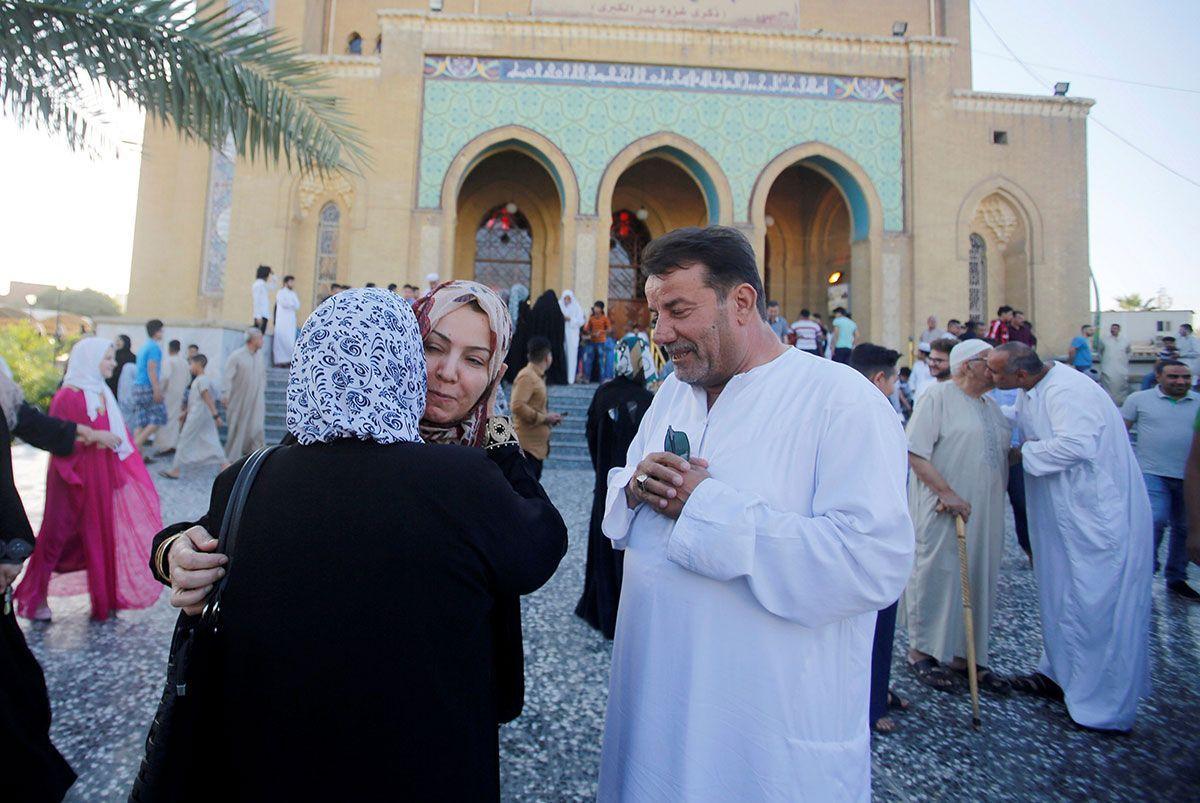 Eid prayers at a mosque in Baghdad Iraq.jpg