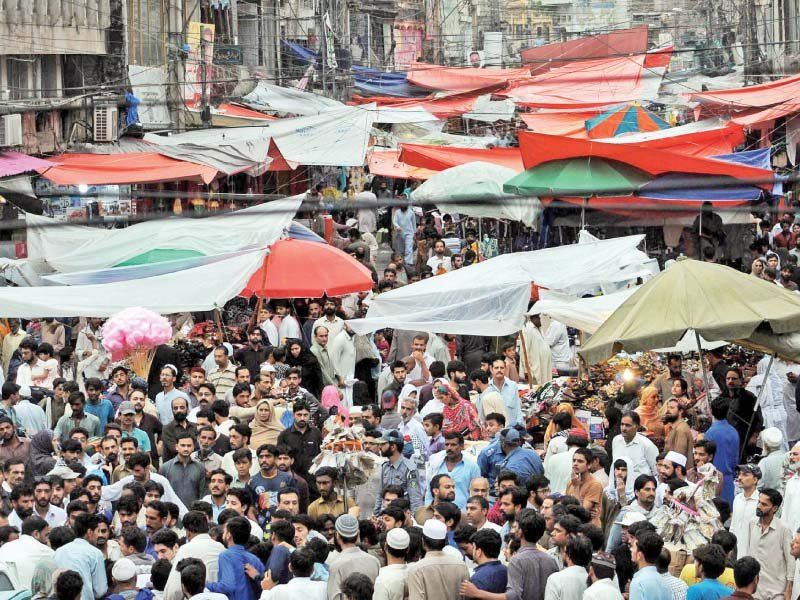 People rushes to market for Eid Shopping in Pakistan