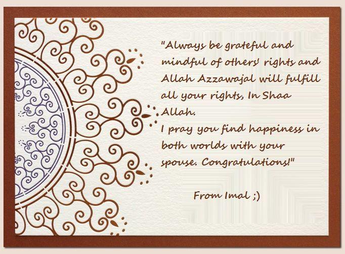 Wishes - Congratulations On Your Nikkah, Zirwah Sis ...