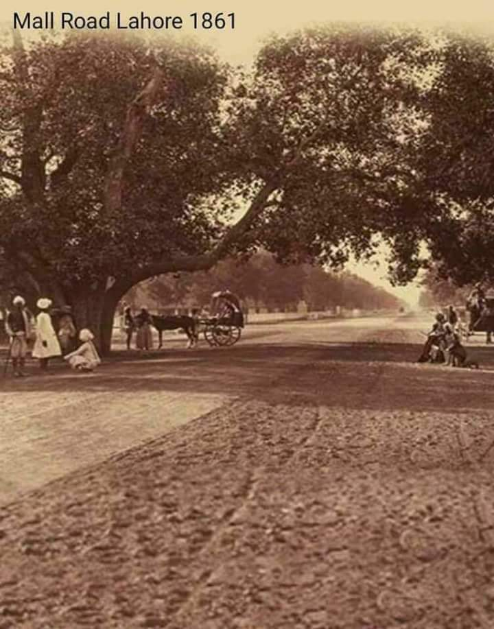 Mall road Lahore during the 19th century.