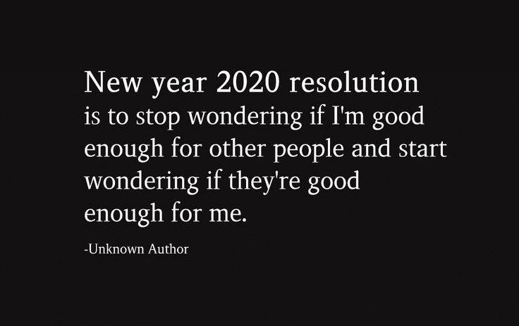 New year 2020 resolution.