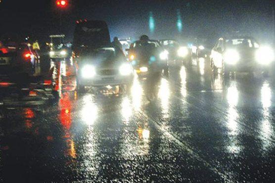 Rain in Lahore.