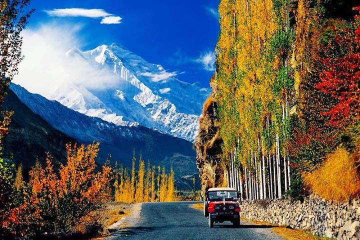 Rakaposhi Mountain and beautiful Hunza Valley, Pakistan.
