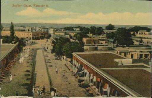 Rawalpindi-old-Photos-A-Rare-Photo-of-Saddar-Bazar-Rawalpindi-Old-rare-Pictures-of-Rawalpindi.