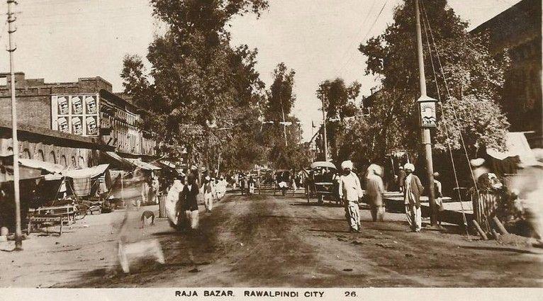 Rawalpindi-old-Photos-Raja-Bazar-Rawalpindi-in-1920s-Old-rare-Pictures-of-Rawalpindi.