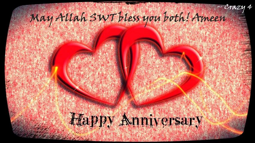 Happy wedding anniversary saad bhai & bhabhi sorryy its late
