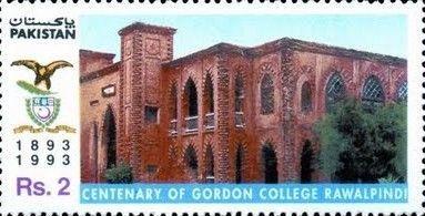 Stamp-on-Gordon-College-Rawalpindi.