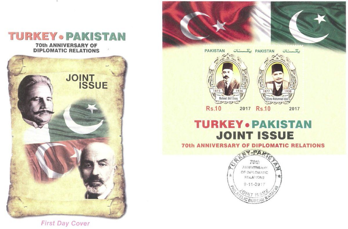Turkey-Pakistan joint stamp on IqbalDay.